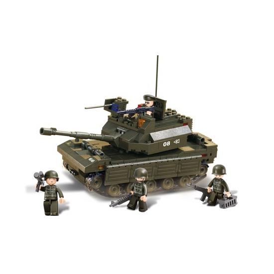 Sluban tank met 5 poppetjes