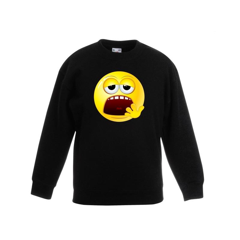 Smiley sweater moe zwart kinderen