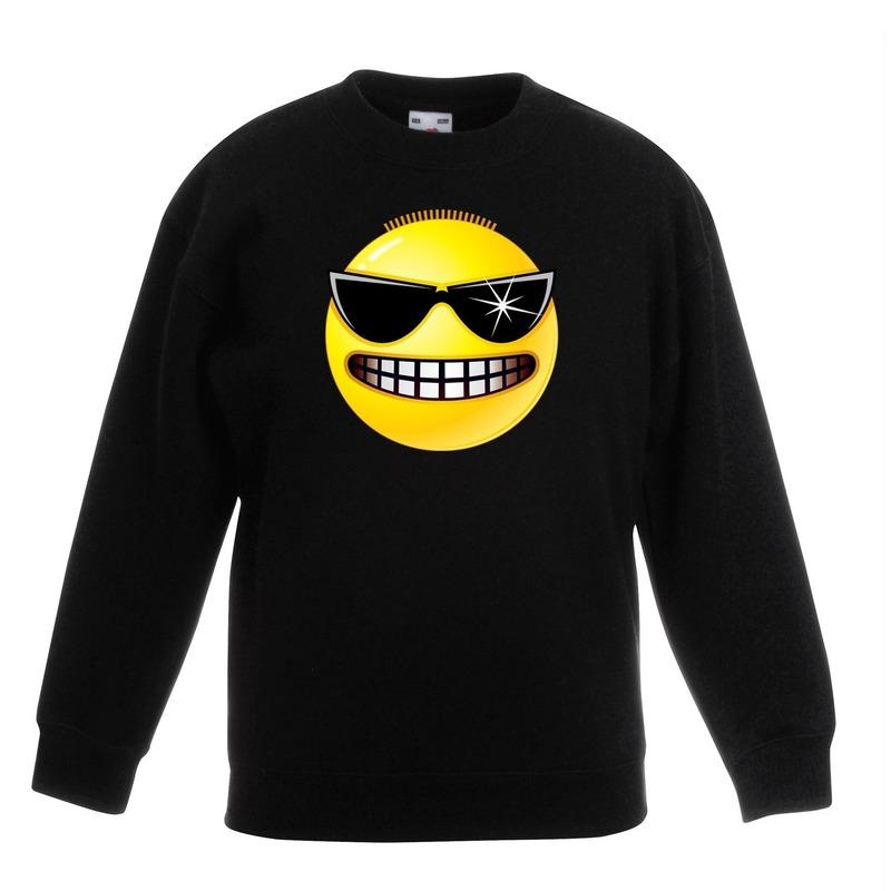 Smiley sweater stoer zwart kinderen