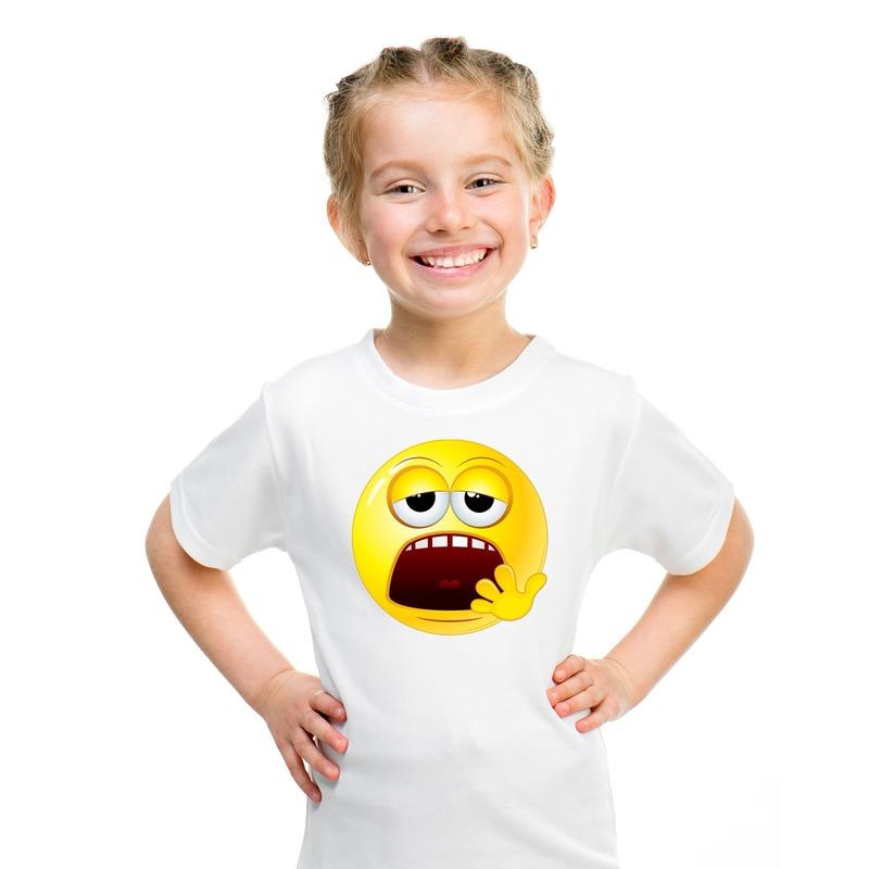 Smiley t-shirt moe wit kinderen