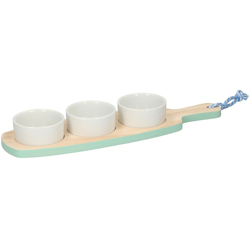 Snack-amuse serveer plank mint