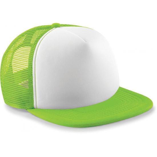 Snapback truckers pet lime groen