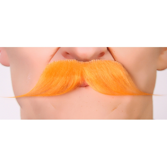 Snor koningsdag verkleedkleding accessoire oranje