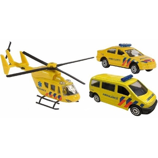 Speelgoed 112 ambulance set 3-delig