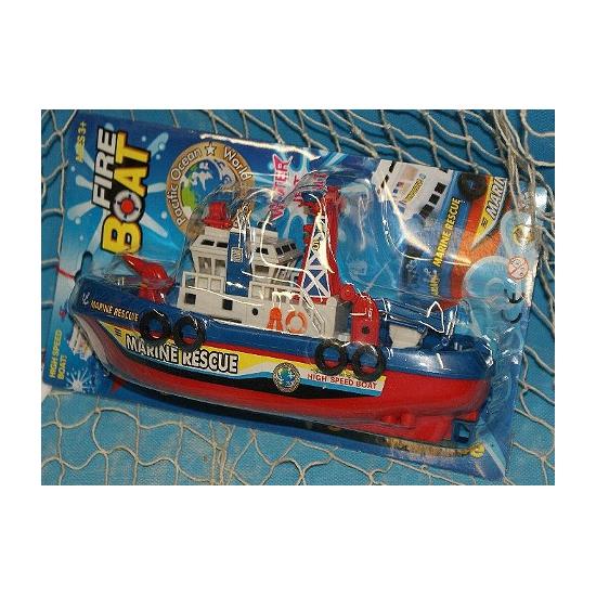 Speelgoed brandweer boot plastic