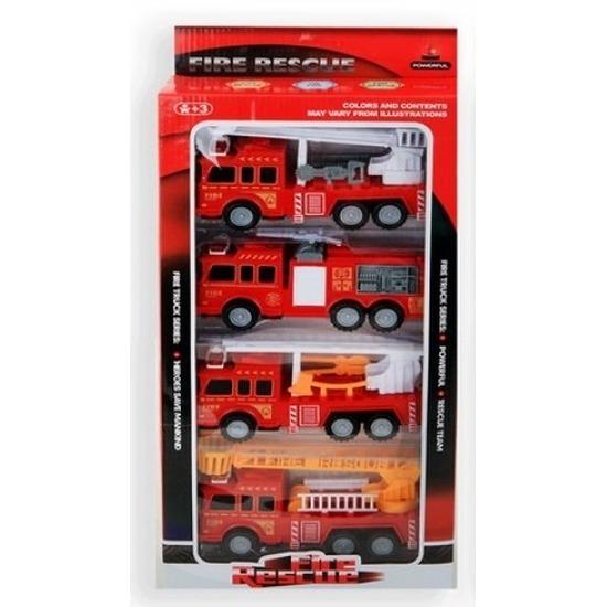 Speelgoed brandweerauto set 4-delig
