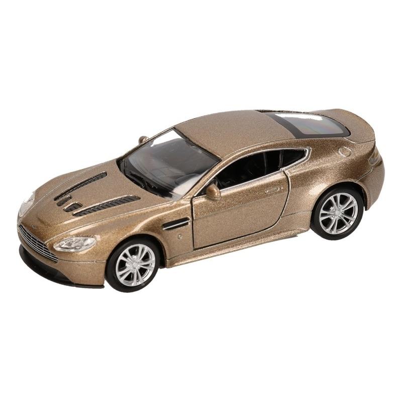 Speelgoed goudkleurige Aston Martin Vantage V12 auto 1:36
