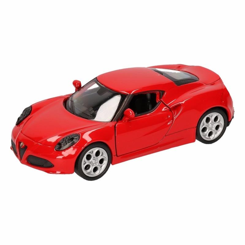 Speelgoed rode Alfa Romeo 4C 2013 auto 12 cm