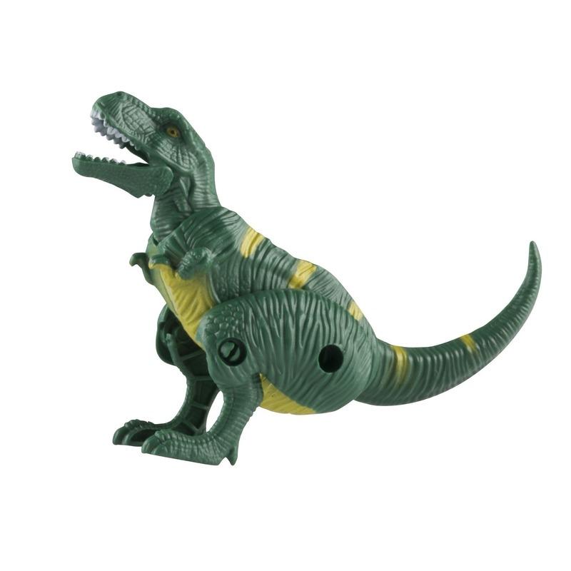Speelgoed T-Rex groene dinosaurus 12 cm