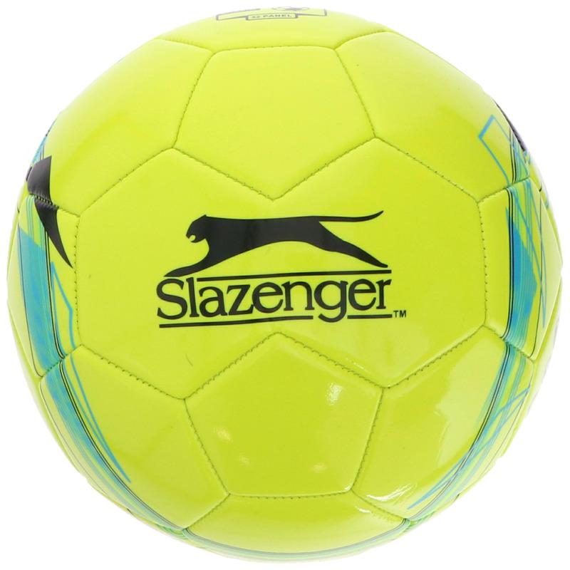 Speelgoed voetbal geel 21 cm - maat 5 voor kinderen/volwassenen