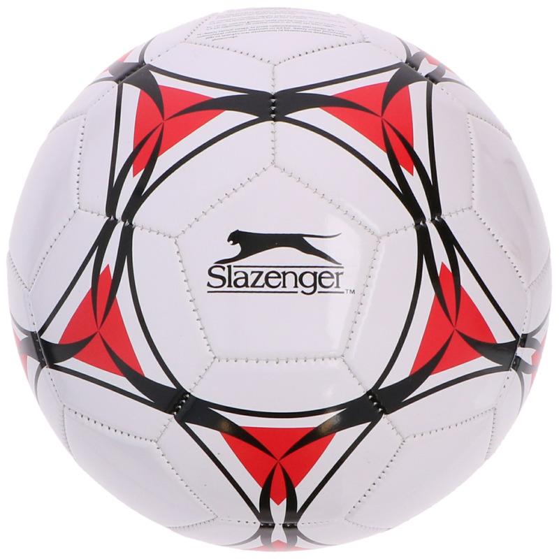 Speelgoed voetbal wit/rood 21 cm voor kinderen/volwassenen