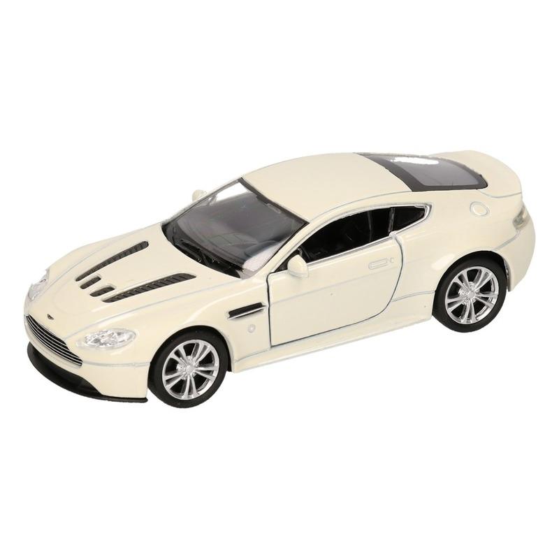 Speelgoed witte Aston Martin Vantage V12 auto 1:36