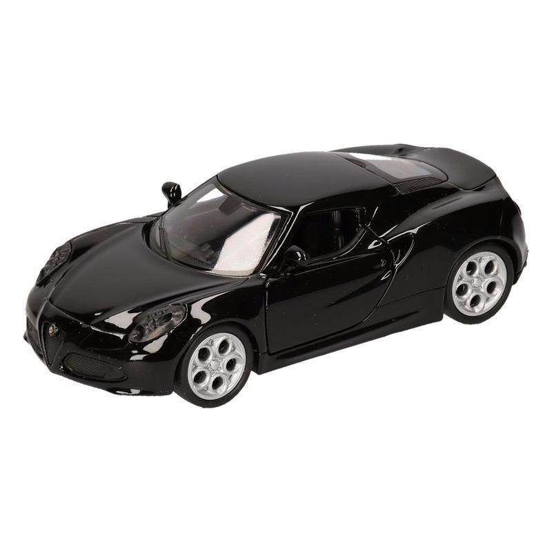 Speelgoed zwarte Alfa Romeo 4C 2013 auto 12 cm
