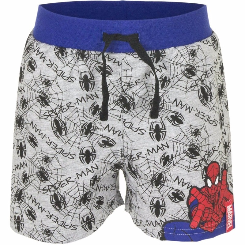 Spiderman korte broek grijs voor jongens