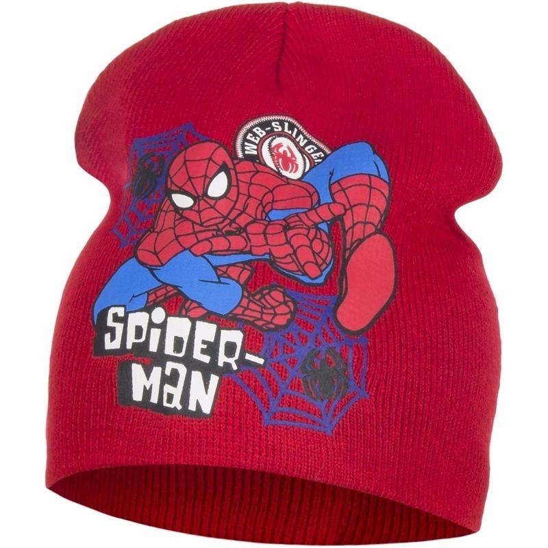 Spiderman muts rood voor jongens
