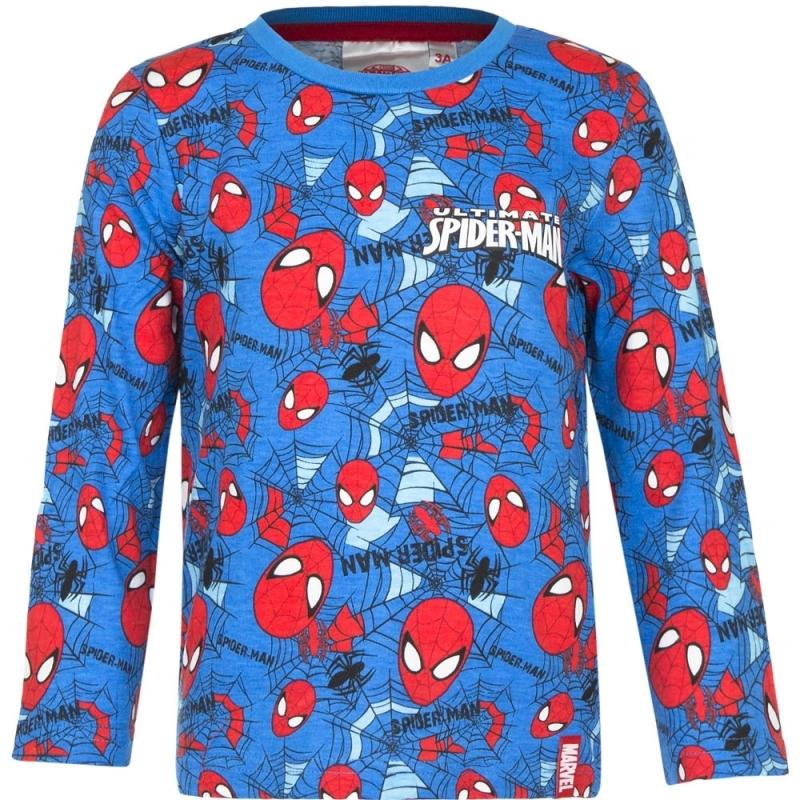 Spiderman T-shirt Blauw Voor Jongens