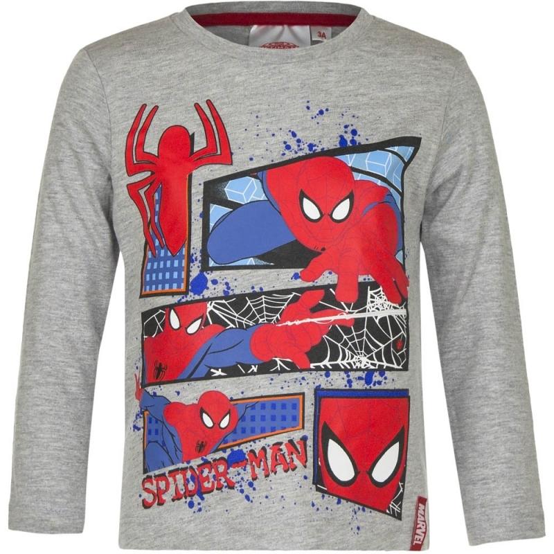 Spiderman T-shirt Grijs Voor Jongens