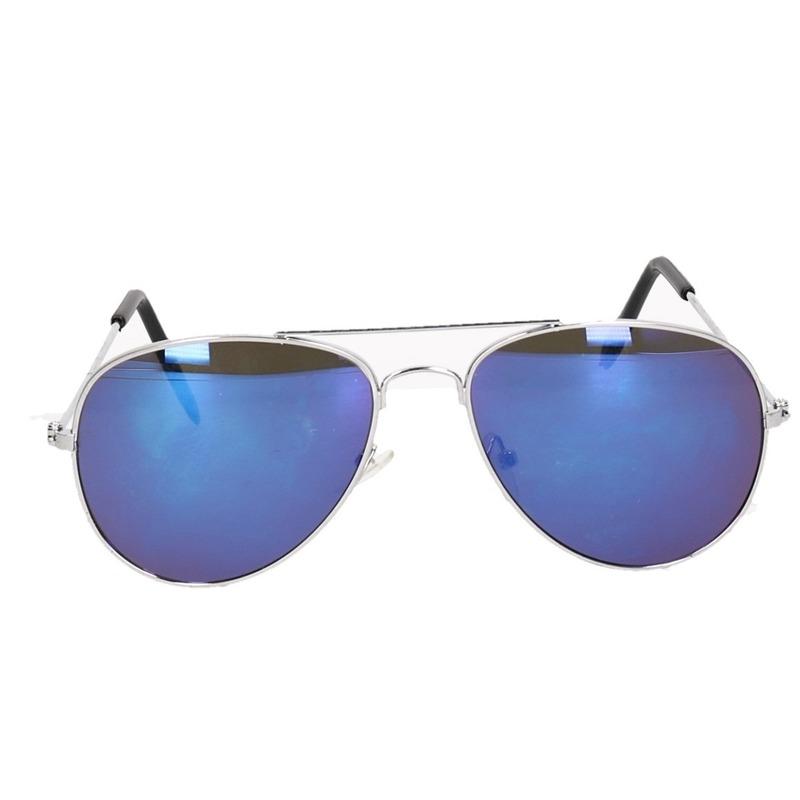Spiegel kinder piloten zonnebril blauw