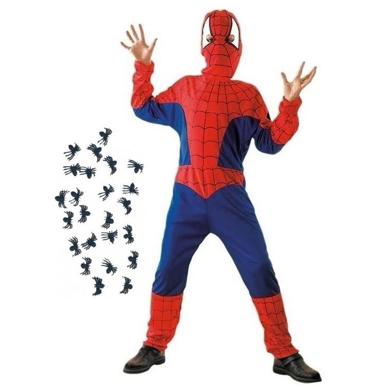 Spinnenheld kostuum maat S met spinnetjes voor kinderen