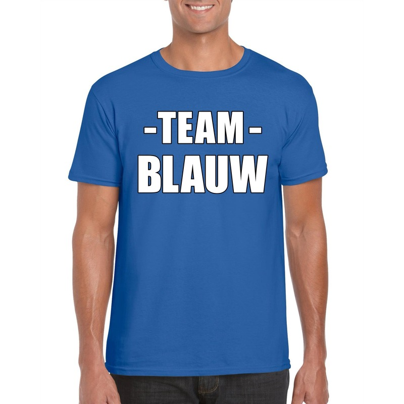 Sportdag team blauw shirt heren