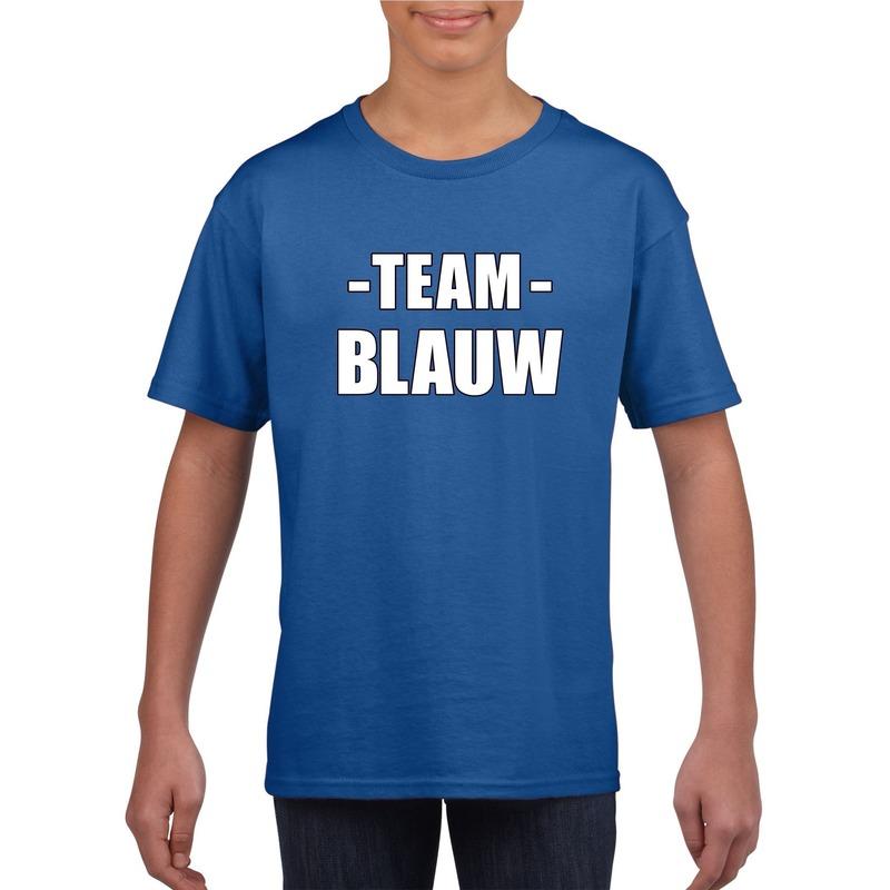 Sportdag team blauw shirt kinderen