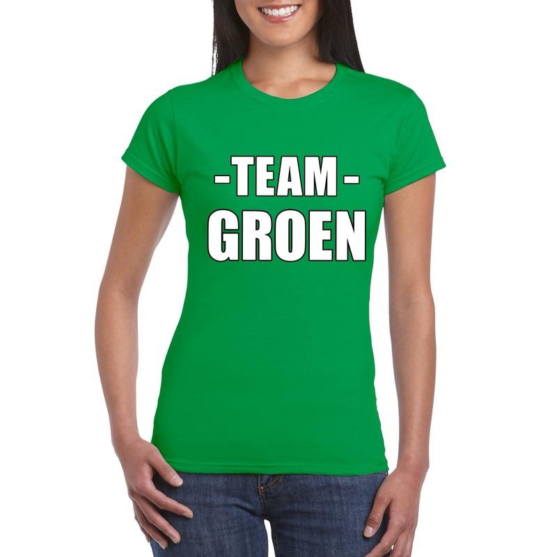 Sportdag team groen shirt dames