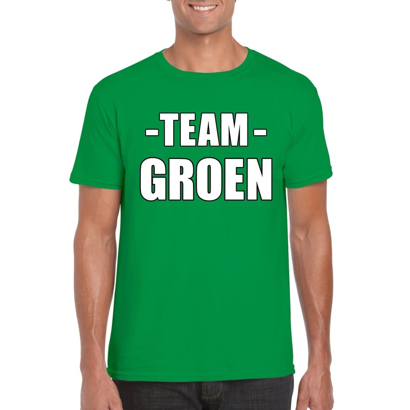 Sportdag team groen shirt heren