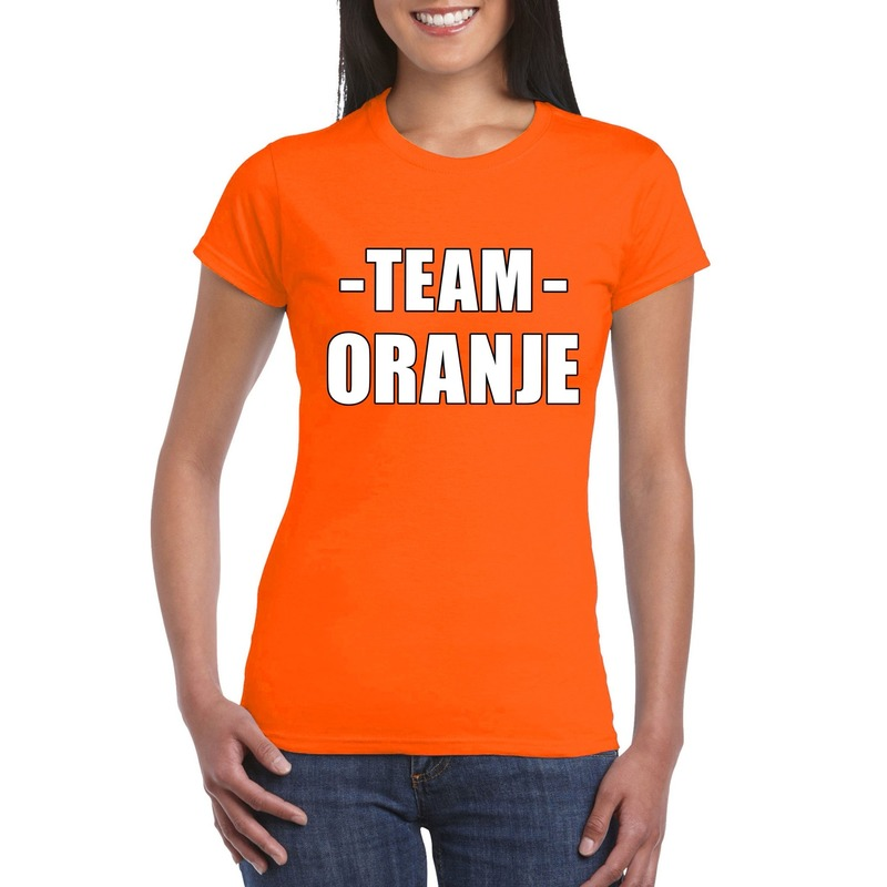 Sportdag team oranje shirt dames