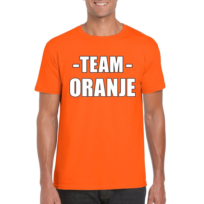 Sportdag team oranje shirt heren