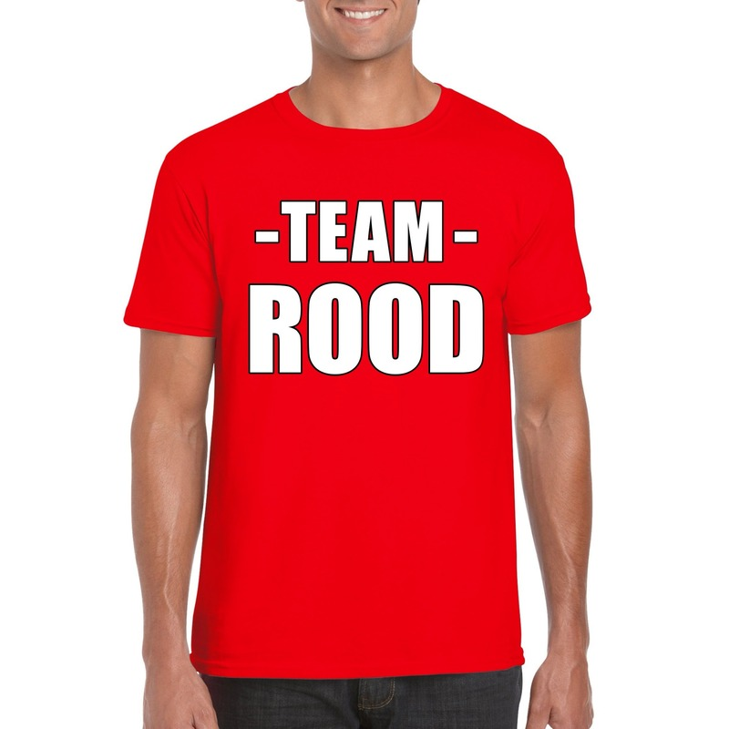 Sportdag team rood shirt heren
