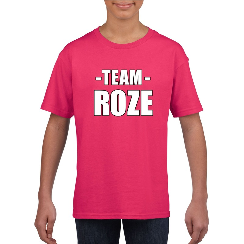 Sportdag team roze shirt kinderen