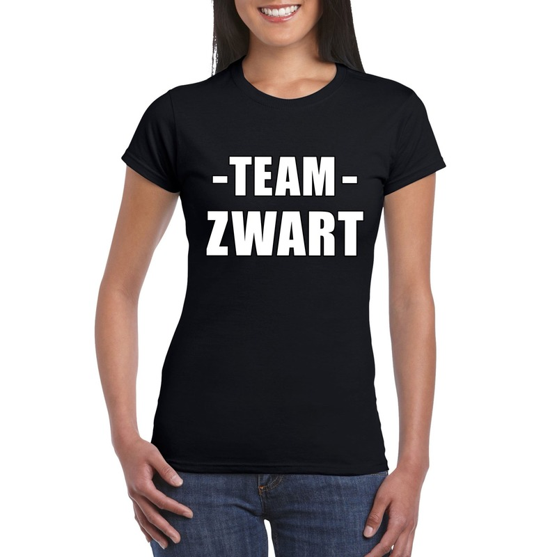 Sportdag team zwart shirt dames