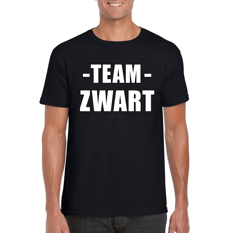 Sportdag team zwart shirt heren