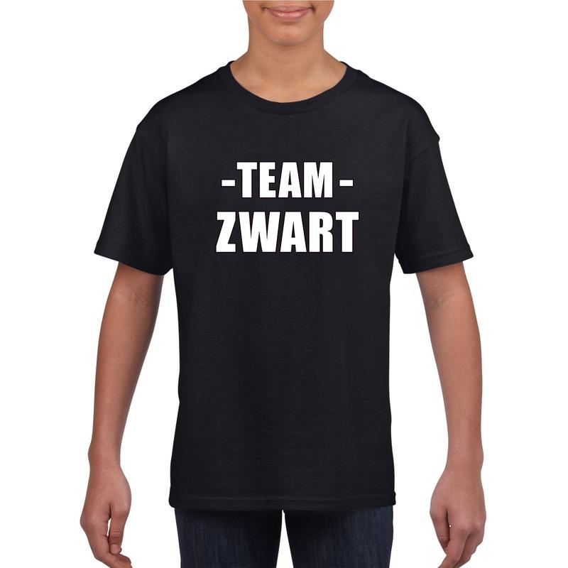Sportdag team zwart shirt kinderen