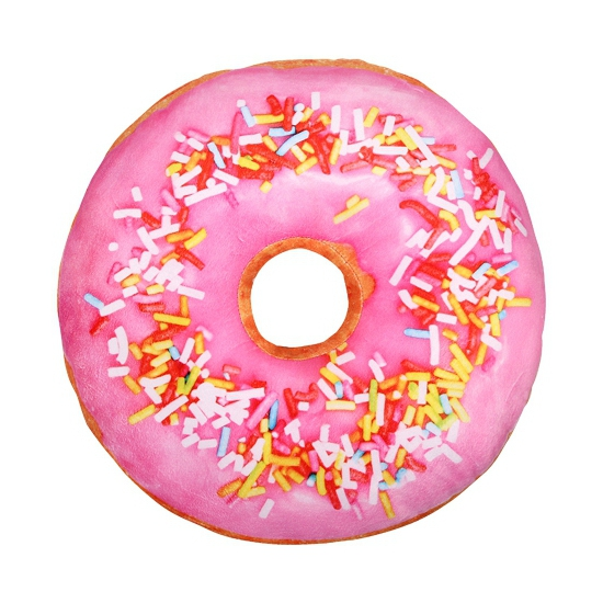 Sprinkels donut kussen lichtroze 40 cm