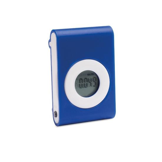 Stappenteller blauw met riem clip
