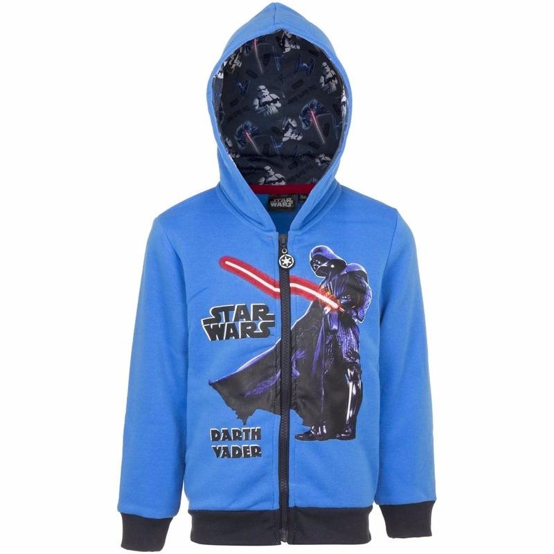Star Wars sweater met rits blauw
