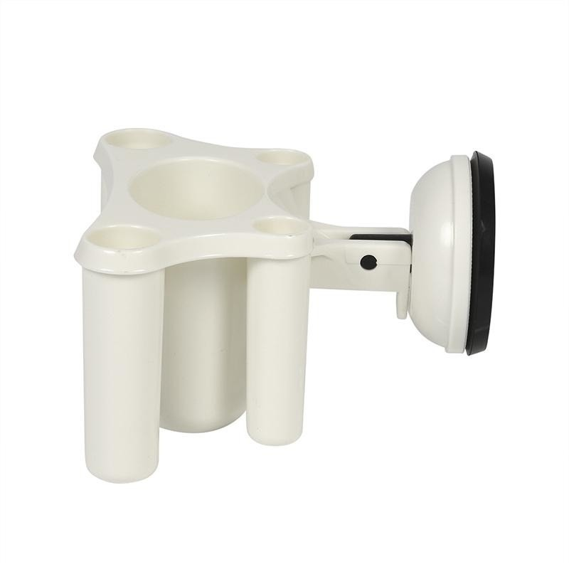 Stevige tandenborstel houder met zuignap badkamer accessoire wit