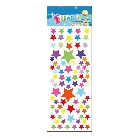Stickervel gekleurde sterren