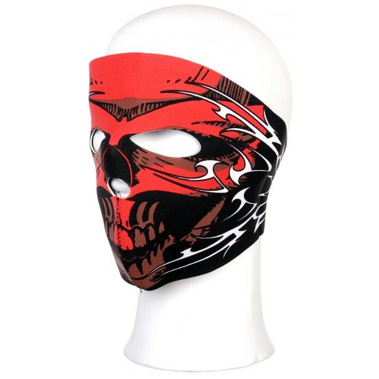Stoffen masker rood schedel