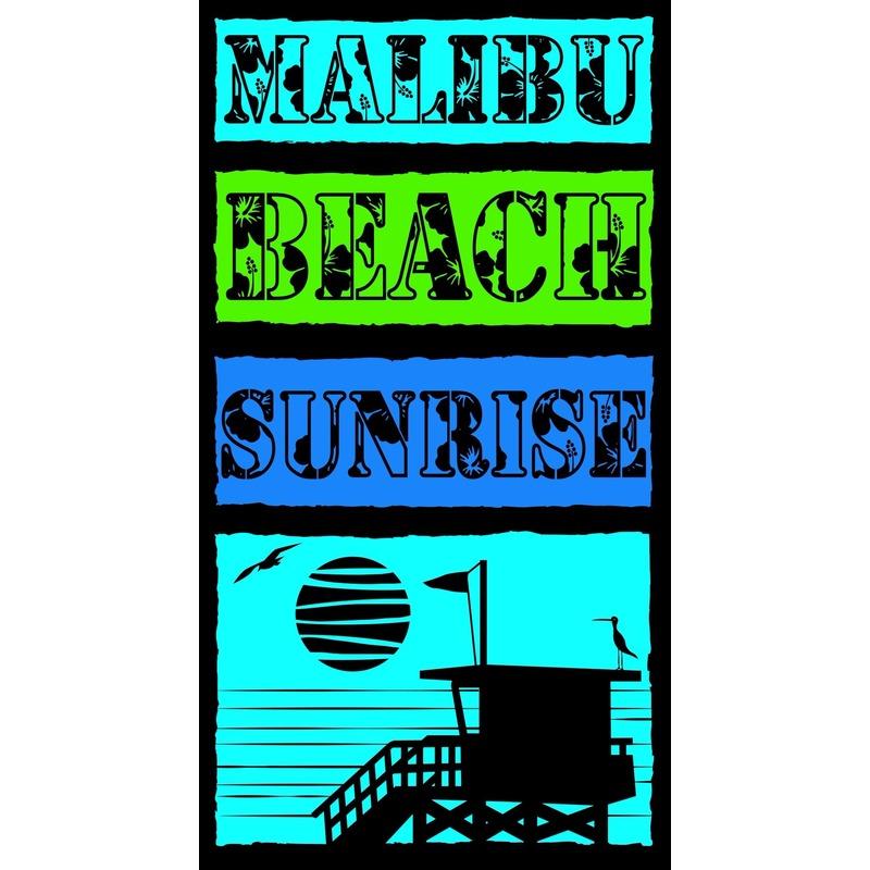 Strandlaken/badlaken gekleurd Malibu Beach 100 x 175 cm