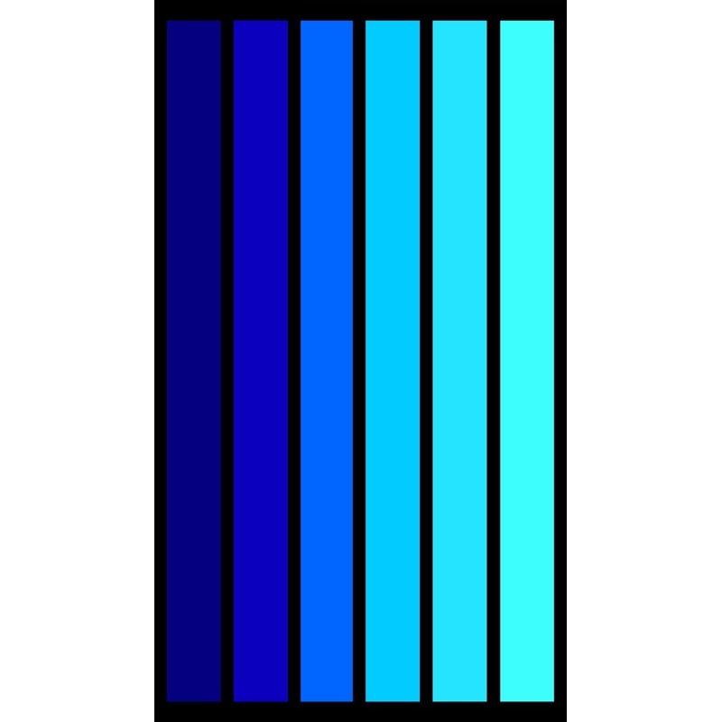 Strandlaken/badlaken strepen blauw Happy Blue 86 x 160 cm
