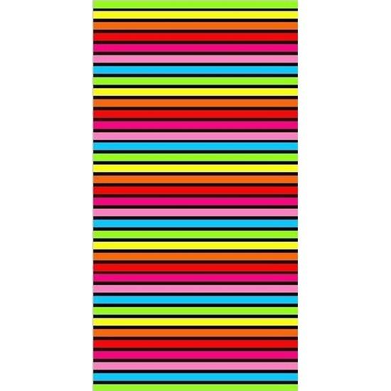 Strandlaken/badlaken strepen gekleurd Bora Bora 90 x 170 cm