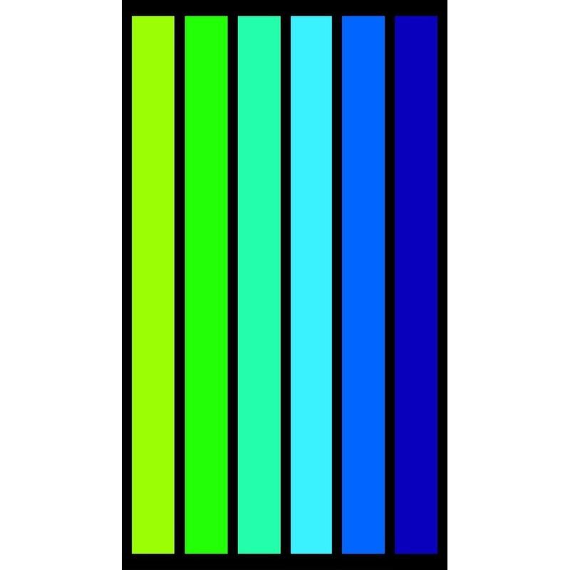 Strandlaken/badlaken strepen groen/blauw Happy Men 86 x 160 cm