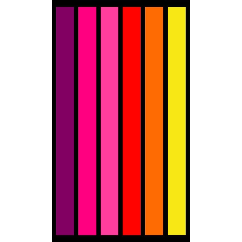 Strandlaken/badlaken strepen roze/oranje Happy Chic 86 x 160 cm