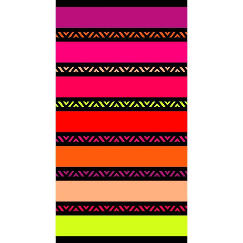 Strandlaken/badlaken strepen Twisty Chic 100 x 175 cm