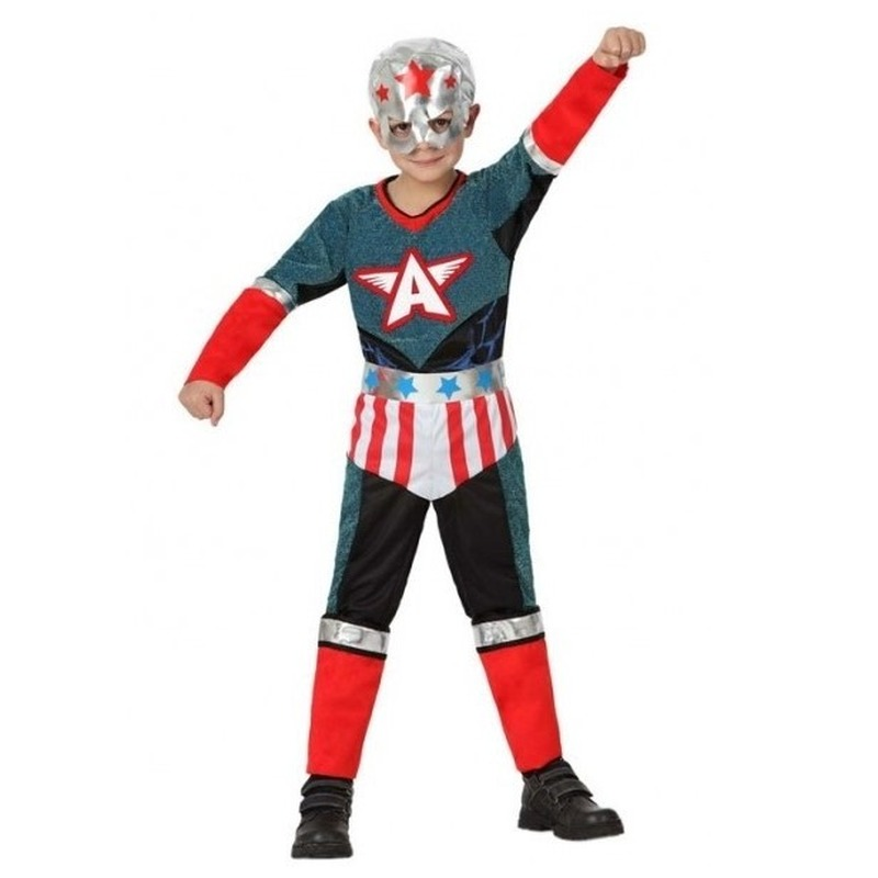Superheld kapitein Amerika pak/verkleed kostuum voor jongens
