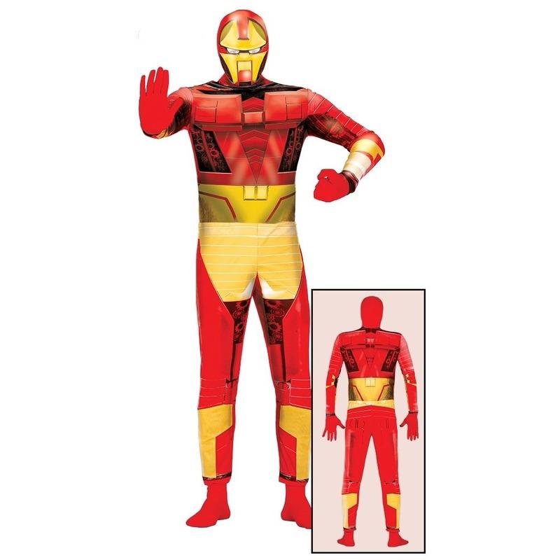 Superheld metalen man kostuum voor volwassenen