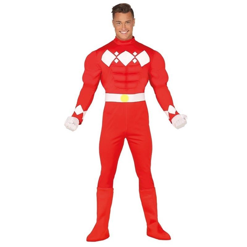 Superhelden verkleed pak voor heren rood