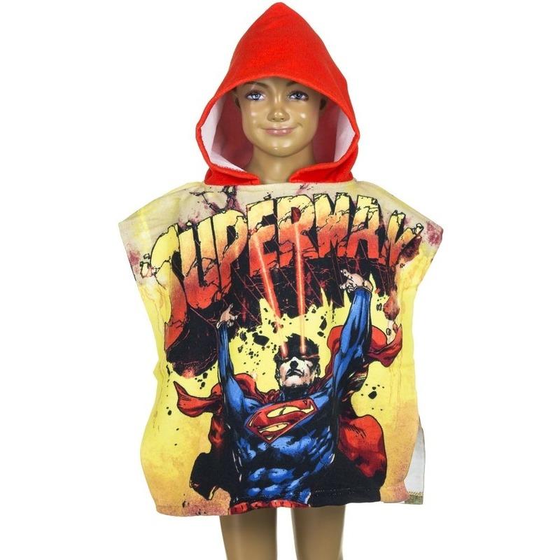 Superman badcape met rode capuchon voor kinderen